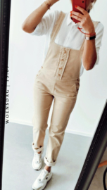 LIVE LIKE IT'S SPRING corduroy Dungaree beige