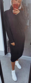 MILOU knit turtleneck sweaterdress black