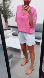 MADELINE tetra blouse fuschia