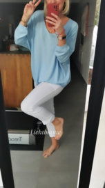 LIZA oversized sweater sky blue