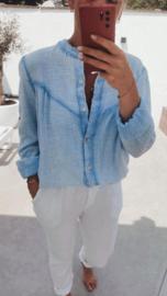 BELINDA tetra blouse soft blue