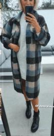 CHARLIE checkered jacket grey