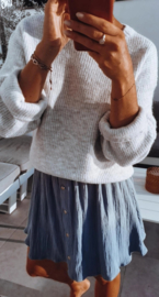 MILA tetra skirt blue