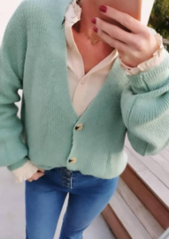 BUYorCRY cardigan soft mint