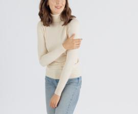MANDIE turtleneck sweater beige