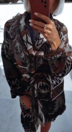 INDIANA wrap jacket khaki