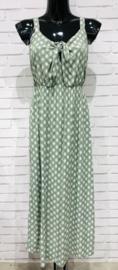 MAURA retro summer viscose dress khaki