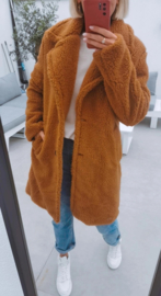 NOLA teddy coat camel