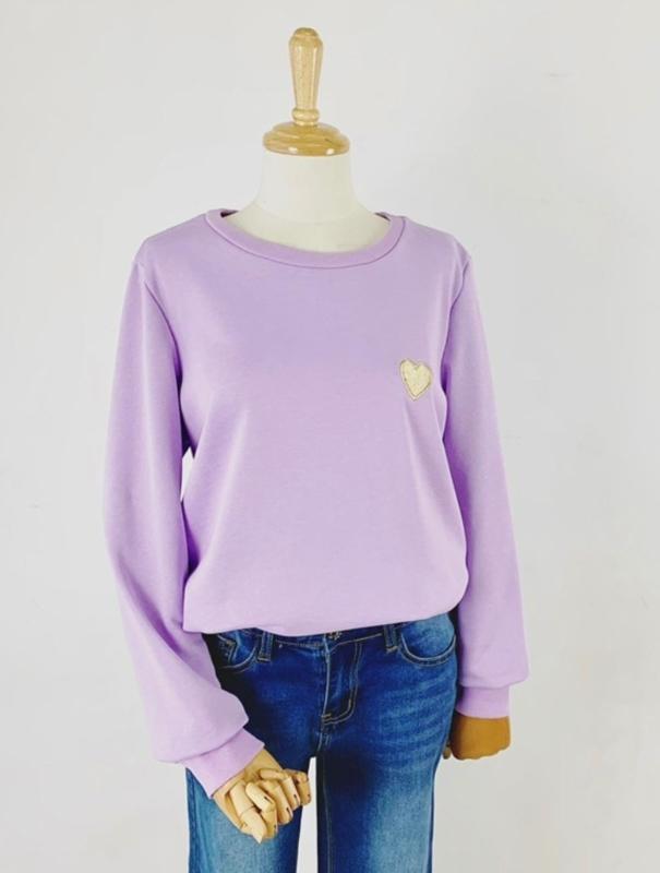 SWEETHEART sweater lilac