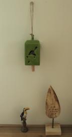 Windgong keramiek groen