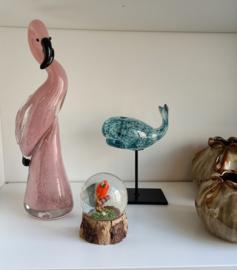 Flamingo glas 27 cm