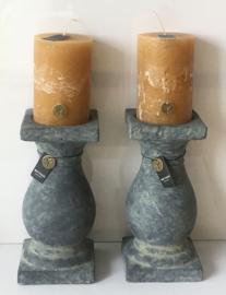 Kaarshouder Brynxz Excellent, handgemaakt aardewerk 28,5 cm