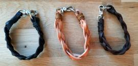 Gevlochten armband kunst leer set van 3