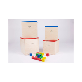Kist met speelblokken (50 stuks)
