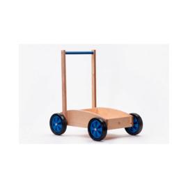 Houten kinderduwwagen, handgemaakt