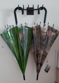 Paraplu kiekeboe houtlook met transparante doorkijk