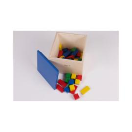 Kist met houten bouwblokken (100 stuks) handgemaakt