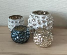 Waxinebol glas 14x14x11cm 2 stuks