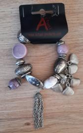 Kralen armband paars