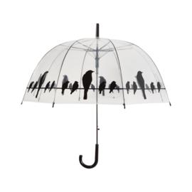 Paraplu vogels op draad transparant