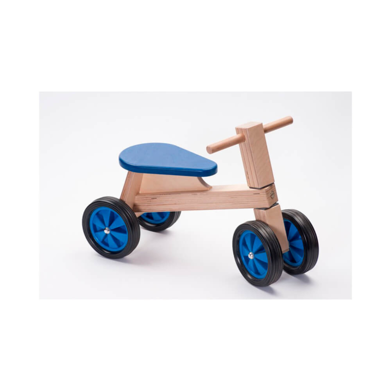Houten kinderloopfiets, handgemaakt
