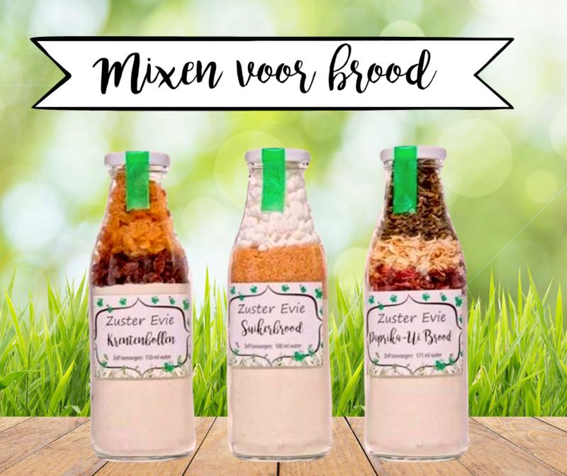 Zuster Evie Paprika-Ui broodmix 500ml fles