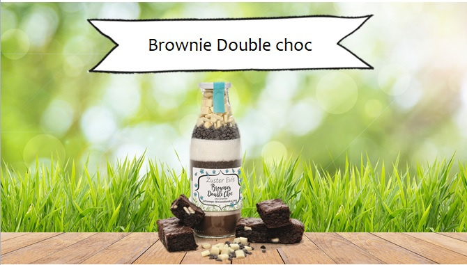 Zuster Evie Double Choc Browniemix 500ml fles
