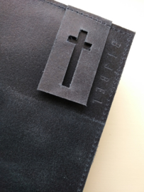 Blauw met kruis
