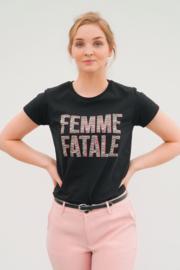 FEMME FATALE T-SHIRT ZWART