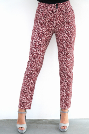 RED LEOPARD PANTALON