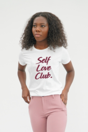 SELF LOVE CLUB  T-SHIRT WIT