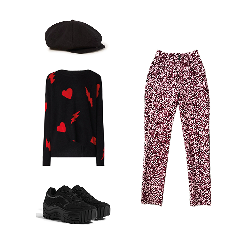 How to style: red leopard suit