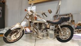 Hand gemaakt zilveren Harley Davidson  600 uur werk