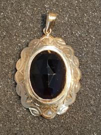 Grote gouden Granaat hager steen 2 cm rand 8 mm 5 cm Lang