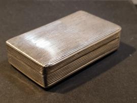 Antieke snuifdoos Jacob Kooiman Schoonhoven 1861 7/4/2 cm
