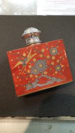 Zilver en porseleinen Theebus  Japan