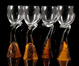 Wijn glazen  Pavel Hanousek - SKLO Studio's Union Czech - sierobject - Glas
