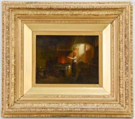 Hendricus Johannes Scheeres: (Dutch 1829-1864) 45x 40 hoge kwaliteit