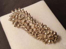 zilveren tak broche met diamant 5.5 cm