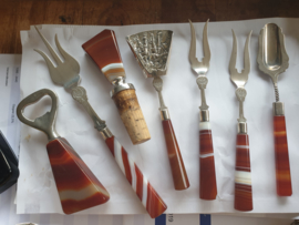 Opruiming gebruik voorwerpen met streep agaat