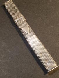 zilveren naalden koker 8.5 cm Amsterdam 1862