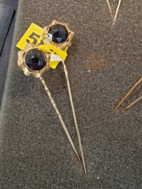 Grote granaat muts spelden goud diameter 17 mm