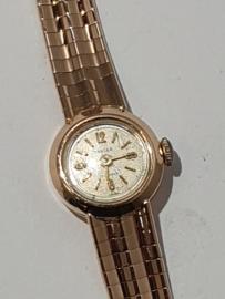 Vintage Gouden dames horloge met gouden 18 Kr band  20 gram 17 cm