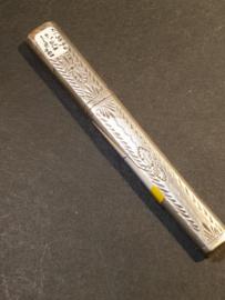 zilveren naalden koker 9 cm 18e eeuw
