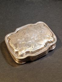 Zilver antiek Peperemuntdoosje Paulus Arnoldus vd Beek  den Haag 1863