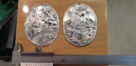 Oude zilveren set boekdelen afkomst onbekend