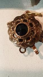 Granaat gouden slot voor twee rijen Bak slot 14 mm