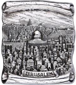 Joods zilver plaquette eerste gehalte van binnen hol maar opgevuld Met ??
