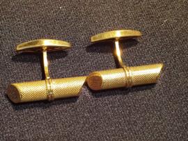 Zware gouden manchetknopen 18 kr als nieuw 3 cm