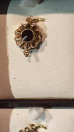 Granaat slotje goud Bak slot 11 mm een rij